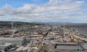 Construction work at Hinkley Point C.