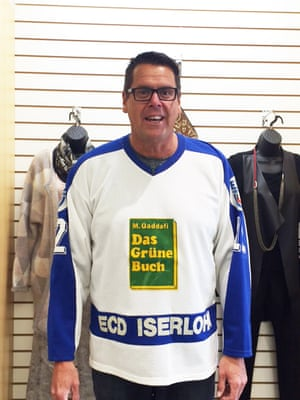 Bruce Hardy's hockey shirt, complete with Green Book logo.