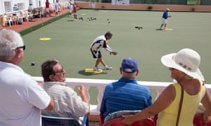 Britons watching a bowls tournament in Spain
