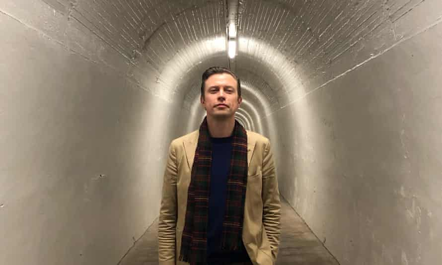 Anthonie Tonnon in the access tunnel of the public underground elevator in Whanganui, New Zealand