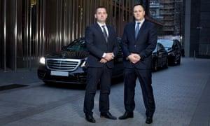 Manny Qorrolli and Ervin Gjoni of EG Chauffeurs in London