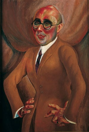 Politically chaotic and artistically brilliant … Portrait of the Jeweller Karl Krall 1923, by Otto Dix.
