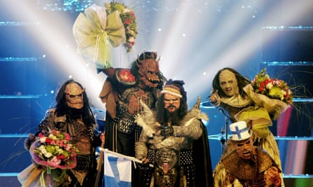 'It's something that belongs to all of us in Europe…' Finland's Lordi celebrate after winning Eurovision in 2006.
