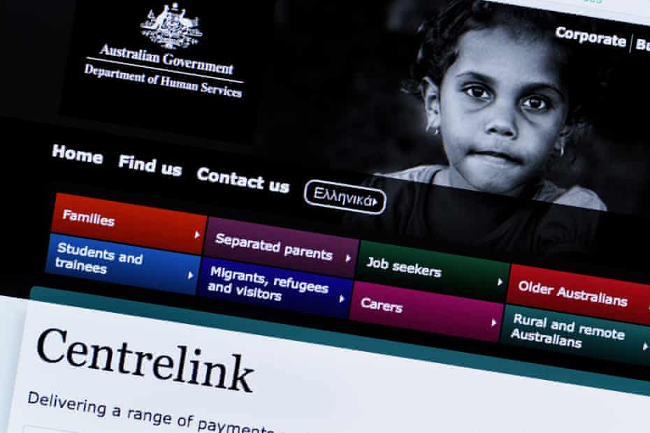The Australian Government's Department of Human Services website.