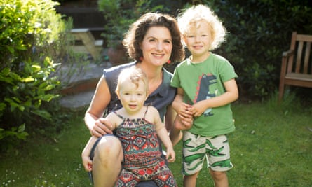 Amelia Hill with her children