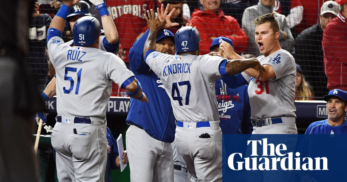 ef9f8ce39 Clayton Kershaw gets first major league save as Dodgers clinch spot in NLCS