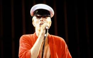 Bowie performing live onstage on the Low/Heroes 1978 World Tour
