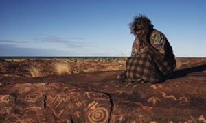 The carvings of circles and tracks in Arrernte lands in Northern Territory.
