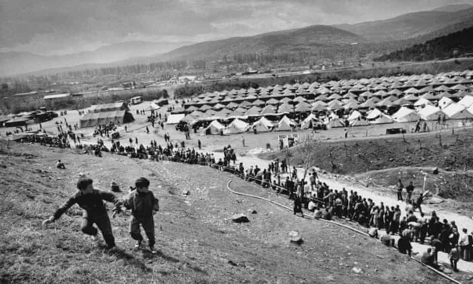 The Brazda camp in Macedonia in 1999, which housed refugees from the Kosovo war.