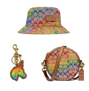 Colour therapyAdd a touch of multi-coloured joy to your summer wardrobe with Coach's Rainbow Signature collection. The dual gender designs play with the brand's iconic logo motif – flashes of bold colours uplift a simple white dress. The capsule collection features little gems, like this circular crossbody bag, bucket hat and keyring. Trainers and delightful T-shirts are also available. Prices starting from £60 coach.com