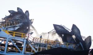 Coal stockpiles