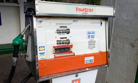 An obsolete four star petrol pump – almost every country has banned leaded petrol.