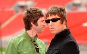 Noel and Liam Gallagher in 2008.
