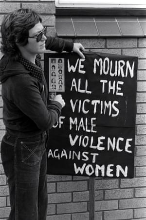 A protest march by women in Bradford in 1981.