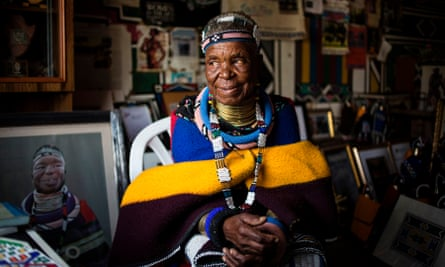 Esther Mahlangu at her home in Mabhoko village, Mpumalanga