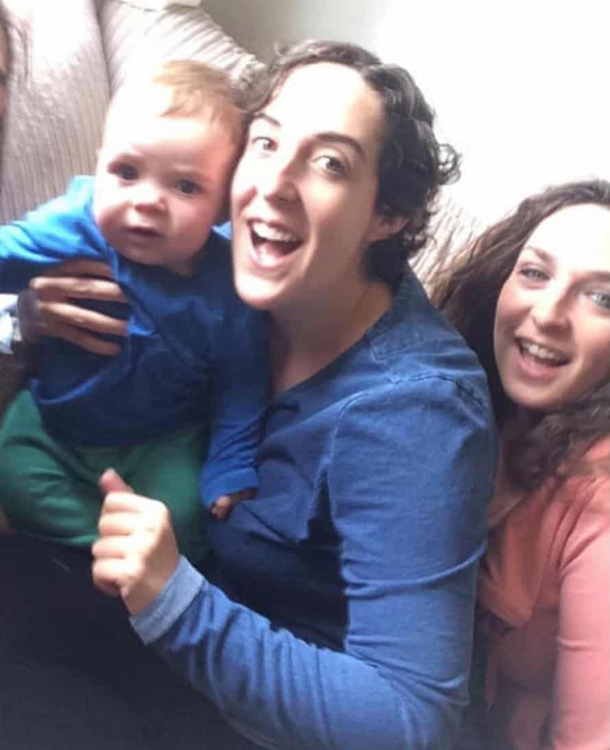 Elly Ingram, right, with her sister Jo and her nephew, Reuben, in 2019.