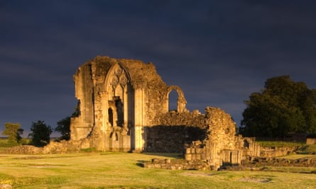 The ruins of monastic buildings at Thornton Abbey in north Lincolnshire.