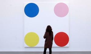 "The artwork ""4-Chlorephenol, 2008"" by Damien Hirst."