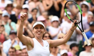 Simona Halep is into her first Wimbledon final after victory over Elina Svitolina.