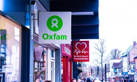 An Oxfam shop sign