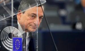 Draghi at the European Parliament.