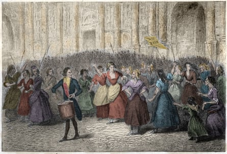 Women from the Halles market going to Versaillesduring the French Revolution of 1789