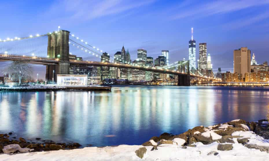 Brooklyn Bridge in the winter.