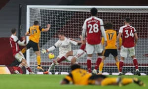 Daniel Podence scores for Wolves.