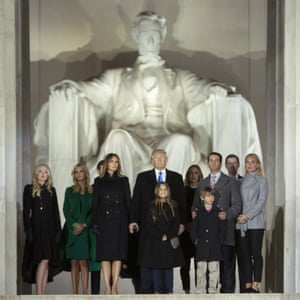 President-Elect Donald Trump and his family at the Lincoln Memorial