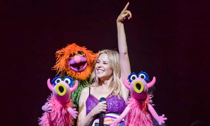 Endearing … Kylie Minogue sings along with the Muppets.