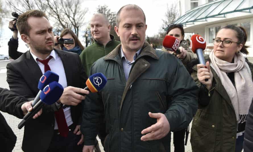 Marian Kotleba, chief of the far-right Kotleba in Slovakia.