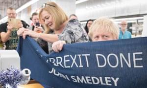 'Get Brexit done' banner