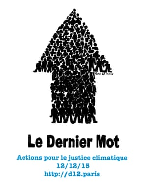 Poster Climate Justice march in Paris on 12 December 2015 during COP21
