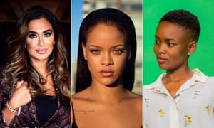 Huda Kattan, Rihanna and Flaviana Matata.