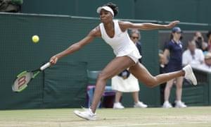 Venus Williams runs to reach a return.