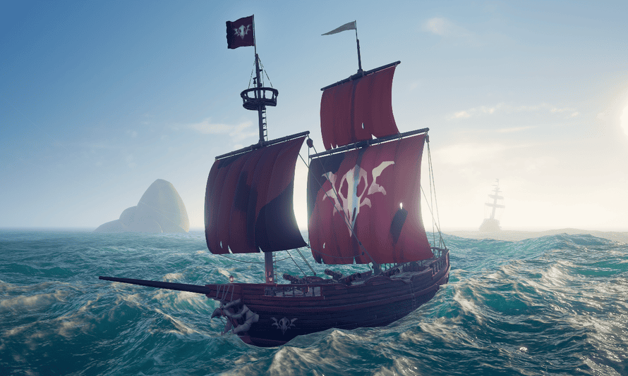 The new brigantine ship from Sea of Thieves.
