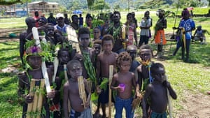Children at a Bougainville reconciliation ceremony in November 2019.
