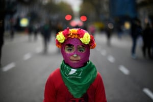Buenos Aires, ArgentinaA girl takes part in a march organised by the Ni Una Menos (Not One Less) movement. The group is protesting against violence against women and campaigning for safe, free and legal abortions.