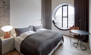 Double room at Hotel Ottilia, Copenhagen, Denmark.