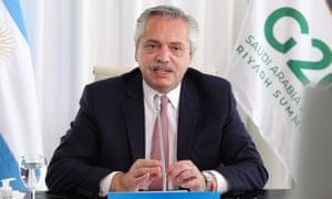 Argentinian president Alberto Fernández.