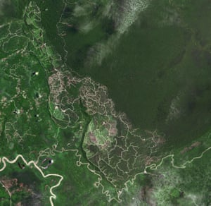 Border of Brunei with Sarawak