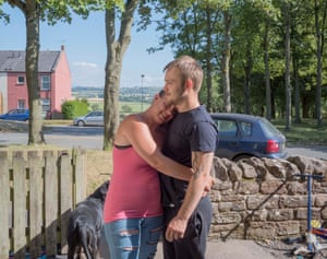 Katrina and her husband Kyle in Aspatria (2018). He had been continuously employed since the age of 16, but has this year been furloughed from a local mattress manufacturer. The plant is now at risk of closure and Kyle has begun to experience panic attacks