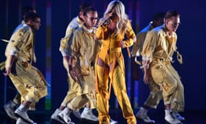 Rita Ora performs during the Aria awards