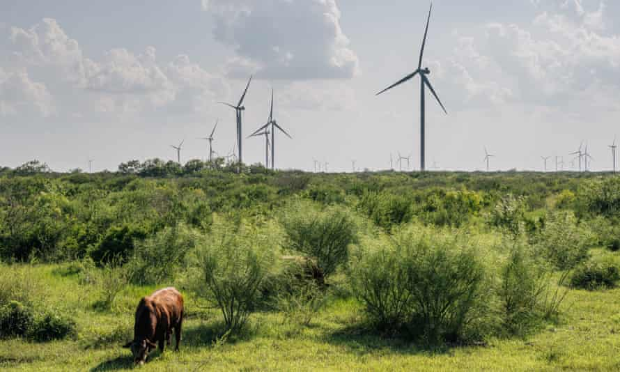 Wind turbines in Papalote, Texas. The Electric Reliability Council of Texas has issued its second call for conservation since the winter storms in February.