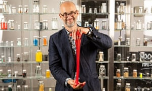"""Mark Miodownik photographed in his laboratory at University College, London.  Mark Miodownik has written a new book called """"Liquid: The Delightful and Dangerous Substances That Flow Through Our Lives"""" which follows his first book """"Stuff Matters: Exploring the Marvelous Materials That Shape Our Man-Made World""""  Mark Andrew Miodownik MBE is a British materials scientist, engineer, broadcaster and writer at University College London. Previously, he was the head of the Materials Research Group at King's College London, and a co-founder of Materials Library."""