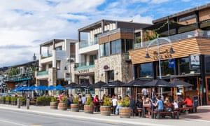 The Trout, and other bars, along Ardmore Street in Wanaka, a resort town on New Zealand's South Island.