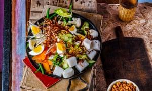 Gado-gado with Compressed Rice.