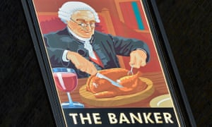 A pub sign in the City of London. Bankers might have to wait a while to tuck in if Sir Gerry Grimstone's words are heeded.