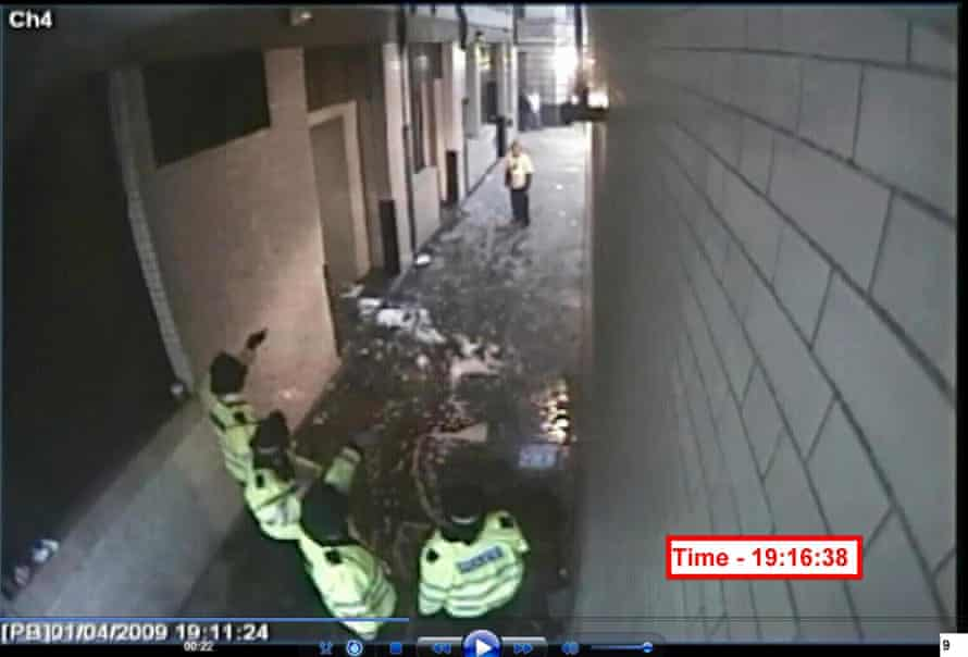 A CCTV still of Ian Tomlinson on the the day that he died at a protest in central London.