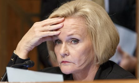 Democractic senator Claire McCaskill, who is attempting to make internet sites liable for material they publish.
